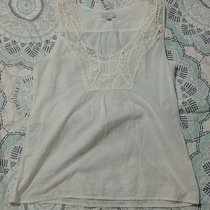 Gap off-white sleeveless top